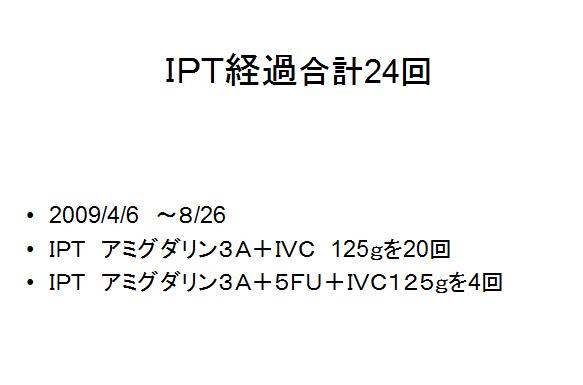 IPT強化療法症例(大腸がん・肺転移)4